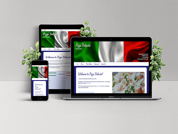Website Services - Pizza Volante