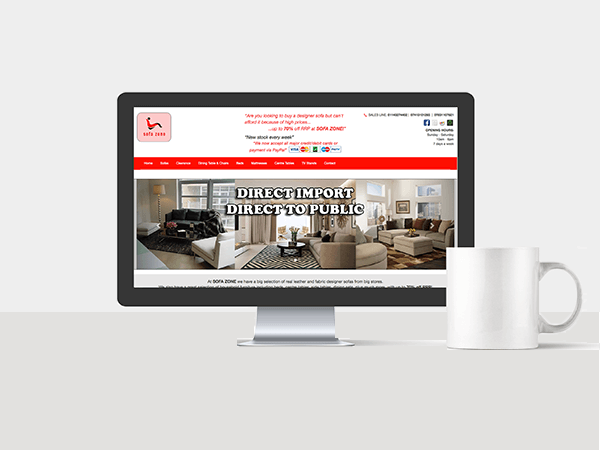 Website Management Services - Sofa Zone