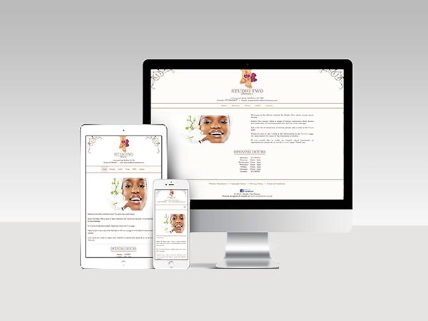 Website Services - Studio Two Beauty