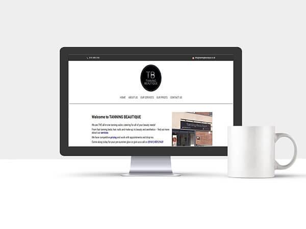Website Services - Tanning Beautique
